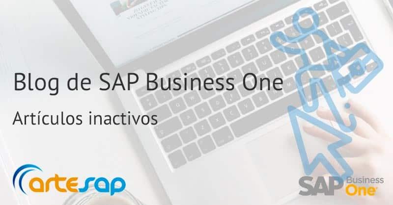 Aprende a marcar los artículos como inactivos en SAP Business One