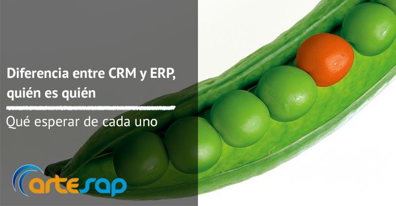Diferencia entre CRM y ERP, quién es quién y qué puedes esperar de cada uno