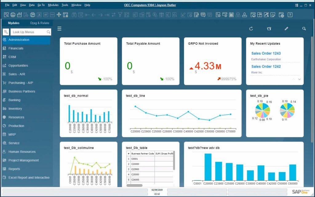 Pantalla Cliente Web SAP Business One versión 10.0