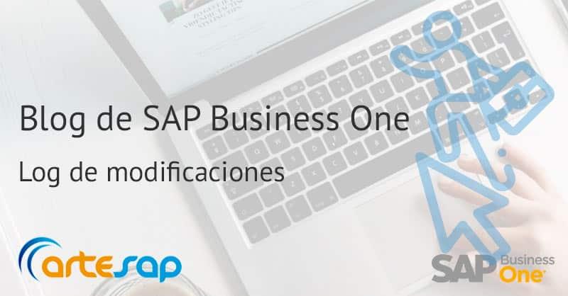 Log de modificaciones en SAP Business One