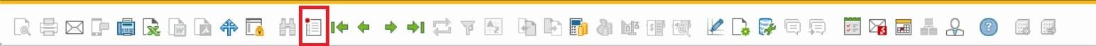 Detalle de la barra de herramientas modo crear