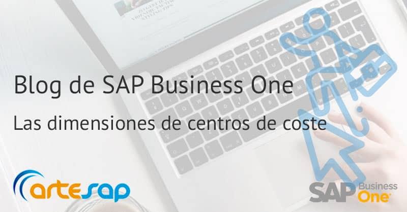 Contabilidad analítica. ¿Qué son las dimensiones en SAP Business One?