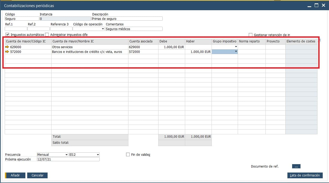 ¿Sabes realizar contabilizaciones periódicas en SAP Business One?