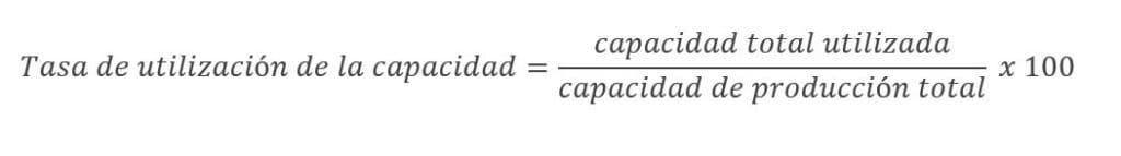 Cómo calcular la tasa de utilización de la capacidad