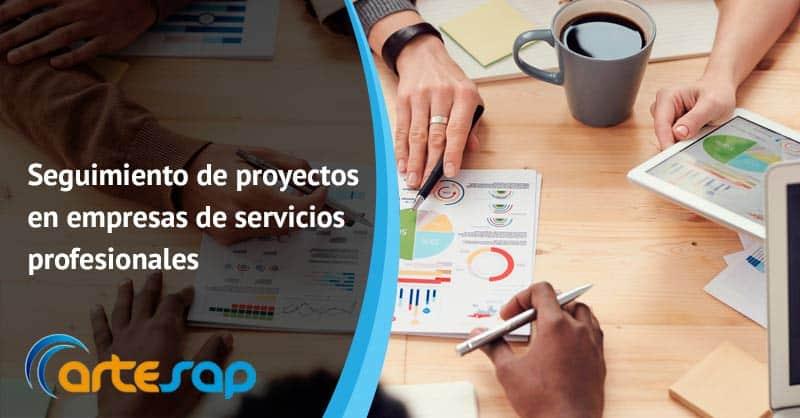 Seguimiento de proyectos en empresas de servicios profesionales